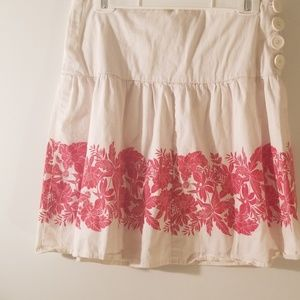 Cotton Skirt w Tiki Print